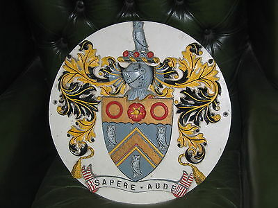 Cast Oldham Coat Of Arms From The Victorian Market Hall Restored And Painted
