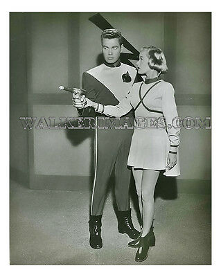 1954 Tv Photo Rocky Jones Space Ranger Richard Crane Sally Mansfield 02