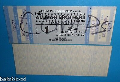 Allman Brothers Band July 1, 1979 Unused Concert Ticket Outlaws Molly Hatchet
