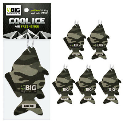 5 x 'FISH THEMED' Cool Ice Scent - Car Air Freshener by Big Kippers | FREE p&p