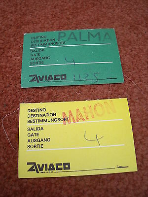 Aviaco Airline Boarding Pass Stubs *