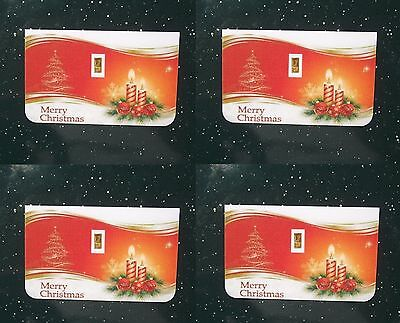 4 Merry Christmas 1/15th Gram 24K PURE 999 GOLD BULLION MINTED CERTIFIED BAR LOT