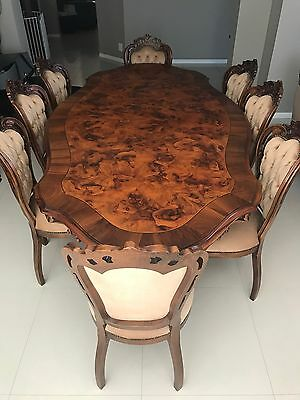 Vintage / Baroque / Italian Dining Table, Chairs And Buffet