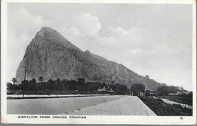 Gibraltar- from Spanish frontier - postcard by Emporium Ltd., c.1920s