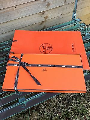 hermes scarf box,ribbon,tissue paper.carrier bag ''gift wrapping''