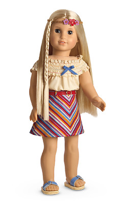 American Girl AG Julie's Groovy Summer Skirt Set with Shoes