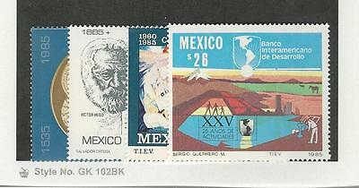 Mexico, Postage Stamp, #1380-1381, 1409, 1426 Mint NH, 1985