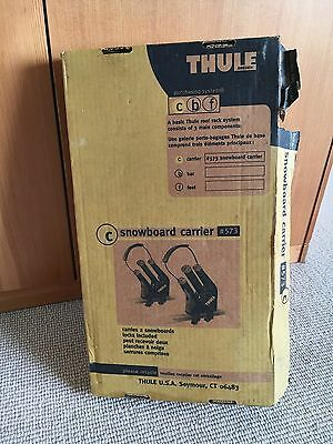 Thule 573 Snowboard Carrier w/ Lock cores