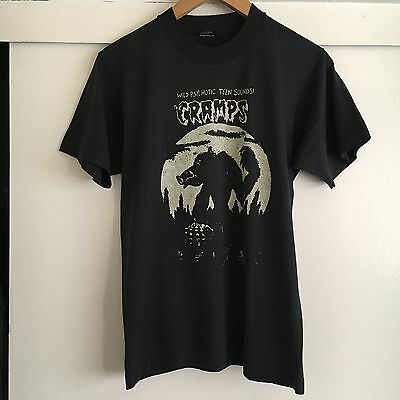 Vtg Rare The Cramps Horror Punk Wild Psychotic Teen Sounds T Shirt 90s (Xs