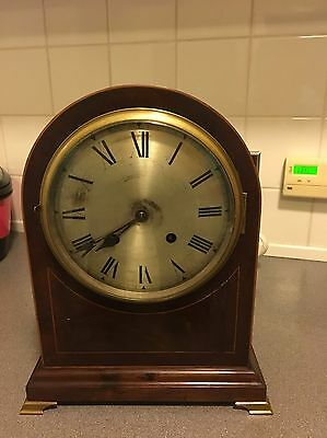 Magnificent Mahogany Cased Domed Top Ting Tang Mantle Clock By WBK&S