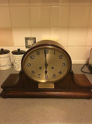 Magnificent Mahogany Cased Junghans  Wurttemberg B32 Movement Time And Strike
