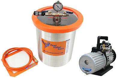 Best Value Vacs 3 Gallon Stainless Steel Chamber and Mastercool 6CFM 2stage Pump