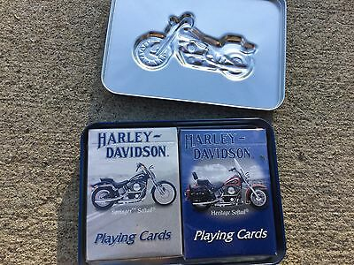 Harley Davidson Playing Cards And Decorative Tin
