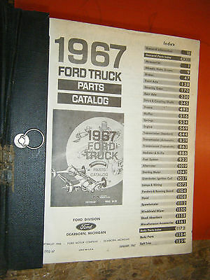 1967 Ford Truck All Series Factory Parts Manual Illustrations Text Catalog Book
