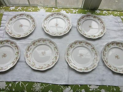 Edwin M. Knowles/salad plates/pink roses/ total 7 pcs.