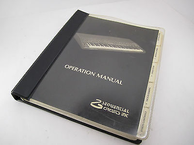 Sequential Circuits Inc. Prophet T-8 Synthesizer Operation Manual - Original