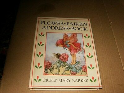 Flower Fairies Address Book by Cicely Mary Barker, Hardcover Book,VG-Shape,1989.