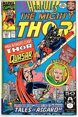The Mighty Thor Marvel Comic Book #437/Copper Age/1991