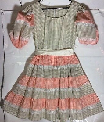 Vtg Square Dance Clogger Pageant  Country Dress Costume Plaid