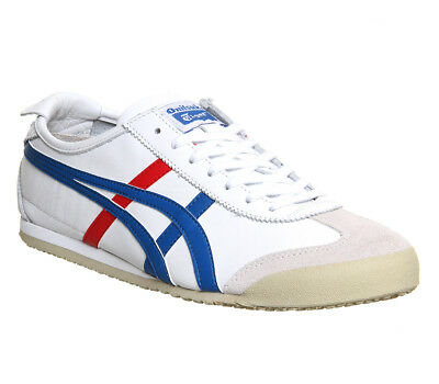 Mens Onitsuka Tiger Mexico 66 White Red Blue Trainers Shoes