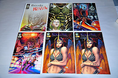 Soulfire 0 1 2 3 6 Preview Variant Lot Of 10 Comics Signed Michael Turner