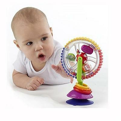 Baby Child Kids Toy Rainbow Ferris Wheel Rattle Clanking Suction High Chair Toy