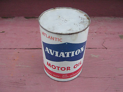 Atlantic Aviation Motor Oil Can