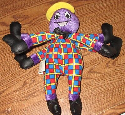 """The Wiggles Henry the Octopus Plush Toy 2003 11"""" tall GUC Music Box Removed Spin"""