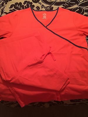 Lydia's Select Scrubs Set Top Large And Bottoms Medium Great Condition
