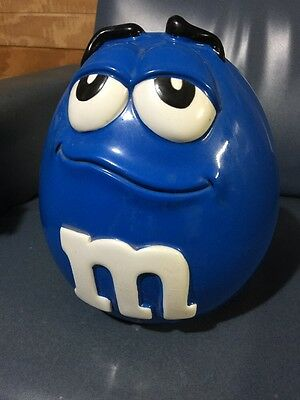 M&M Collectible Canister Candy Cookie Jar Container Blue