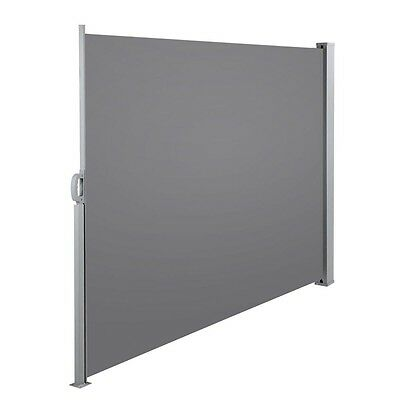 NEW 180cm Steel Frame Outdoor Backyard Patio Retractable Side Awning Shade Grey
