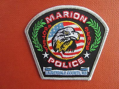 Collectible Mississippi Police Patch Marion New