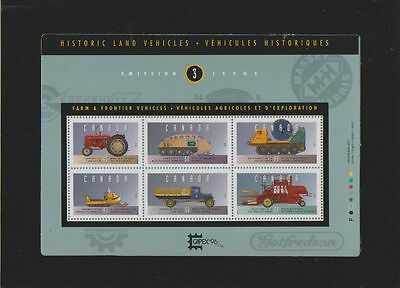 CANADA Farm & Frontier Vehicles booklet   MNH  Souvenir sheet of 6 stamps