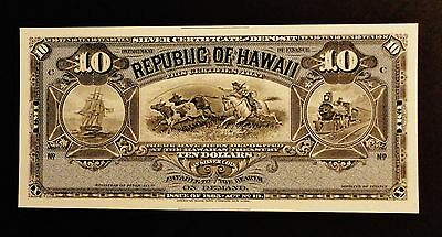 Proof Print or Intaglio Impression by ABN Co - Face of $10 Hawaii Silver Cert