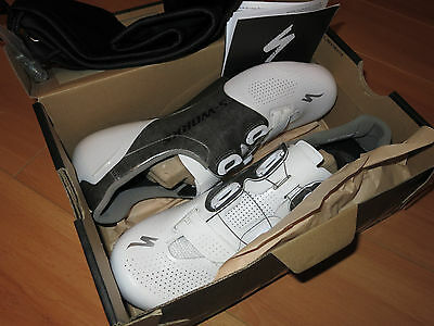 2016 SPECIALIZED S-Works 6 Women's Road Cycling Shoes Size 42 10.5 White Gray