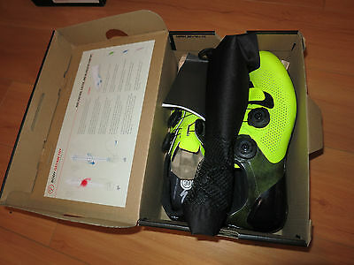 NEW 2016 SPECIALIZED S-Works 6 Road Cycling Shoes Team Neon Yellow Size 39 6.5