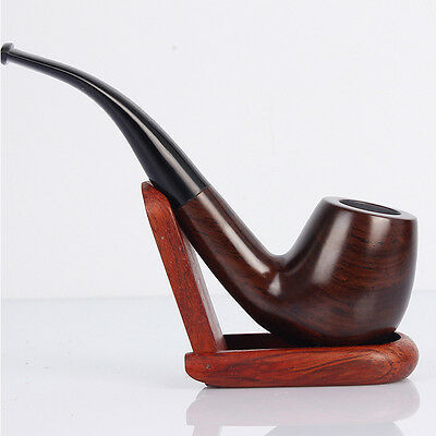 Classic Leaflets Ebony Wood Tobacco Smoking Pipes 9mm filter element Best 5080