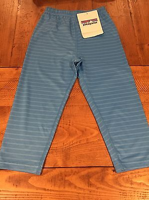 NWT Patagonia Baby Capilene 1 Silk Weight Pants Size 4T DOSB Light Blue