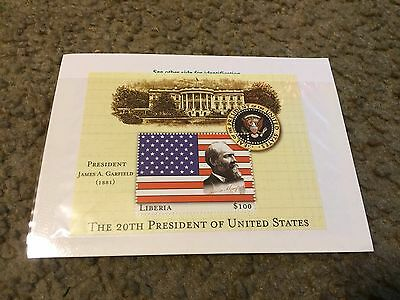 Liberia 2000 US Presidents Mint Stamp sheet Mint S/S James A.Garfield 20th pres.