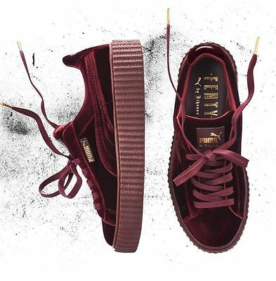 Puma X Rihanna Fenty Velvet Creepers - Royal Purple Burgundy - Size 5.5 6 6.5 7