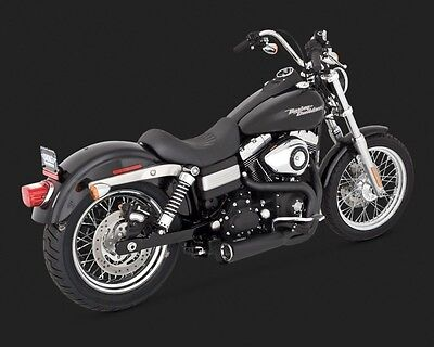 Vance & Hines 751159 Harley-Davidson Competition Series 2-Into-1 Exhaust - Black