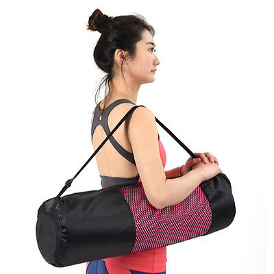 Nylon Mat Bag Carrier Mesh Adjustable Strap Fr Yoga Gym Exercise Sports Portable