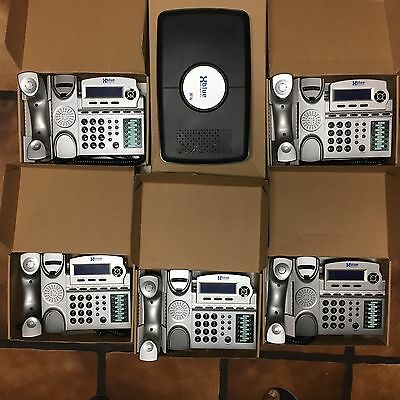 XBlue Networks x16 6 line office phone system with (5) Phones