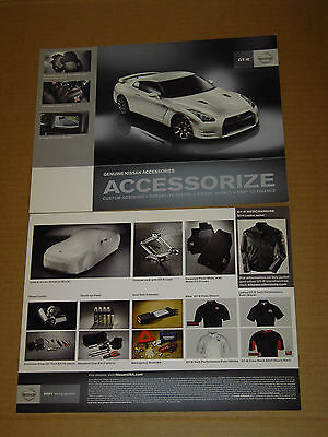 2011 Nissan Gt-R Accessories Double Sided Card Brochure Mint!