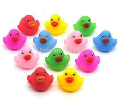 12 Pack Coloured Counting Bath Duck~Baby Shower Gift Toy Bathtime Rubber DuckUK