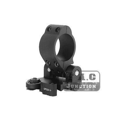 Tactical 30mm QD Pivot Magnifier Scope Flip to Side Mount w/ Speed Lever Lock