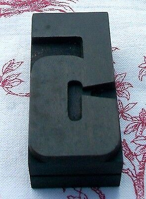 Vintage French 1930s wooden printing block printers Numbers letter press