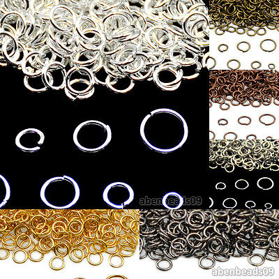 Gold Silver Pewter Plated Single Loop & Double Loop Jump Rings Connectors Jewelr