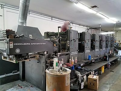 Heidelberg 6 Color Printing Press 102 SP With Console  1986