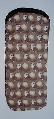 BN  FERRETS ALL OVER- cotton GLASSES CASE ideal small gift